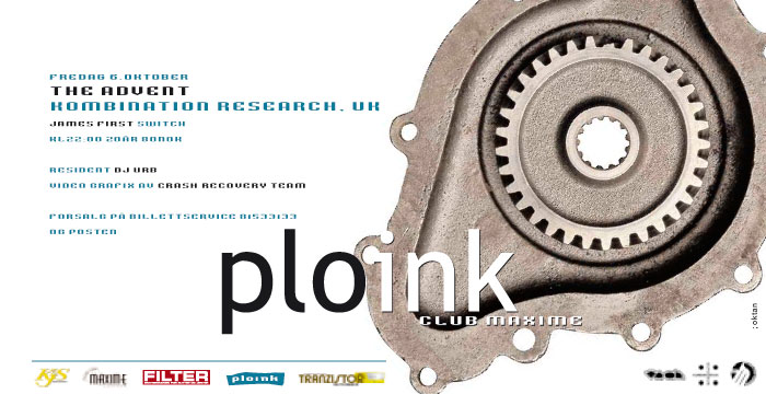 Ploink at MaximeAutumn 2000, BergenVarious Dates & Artists
