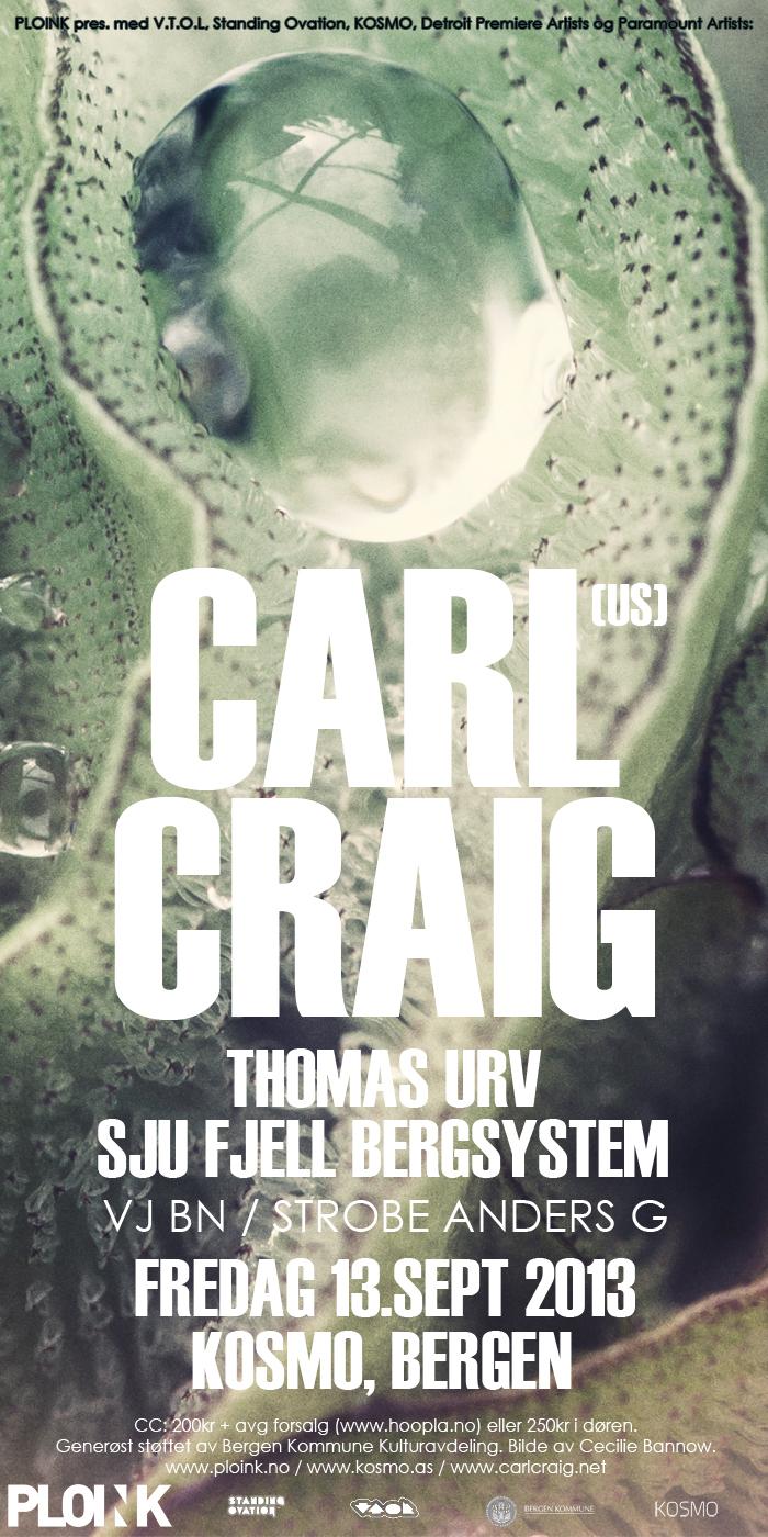Carl Craig<br />13.09.13, Bergen